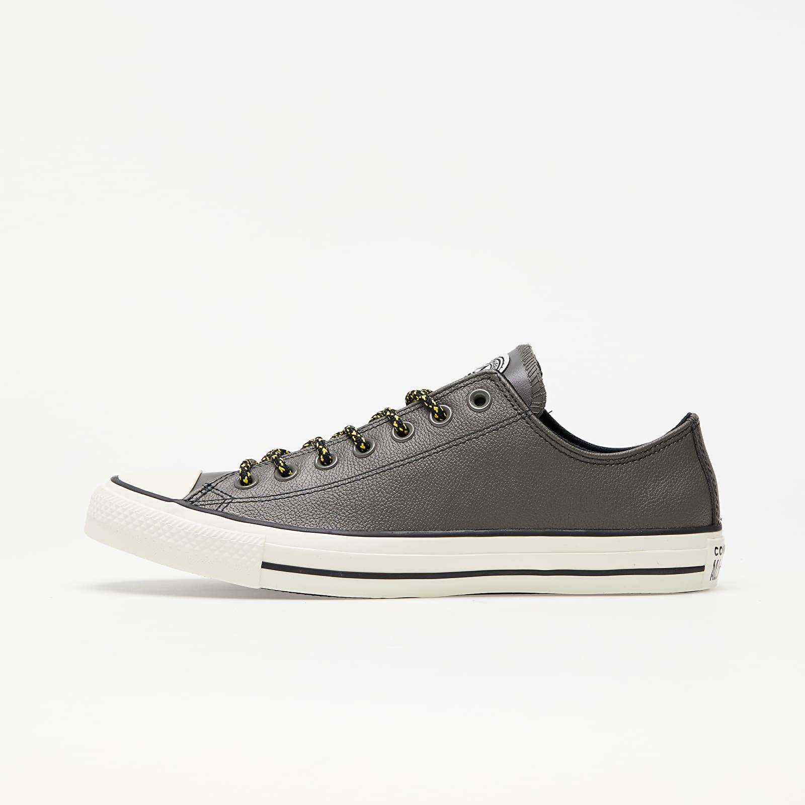 Converse Chuck Taylor All Star Archival Leather Carbon Grey/ Vivid Sulfur/ Egret 165961C