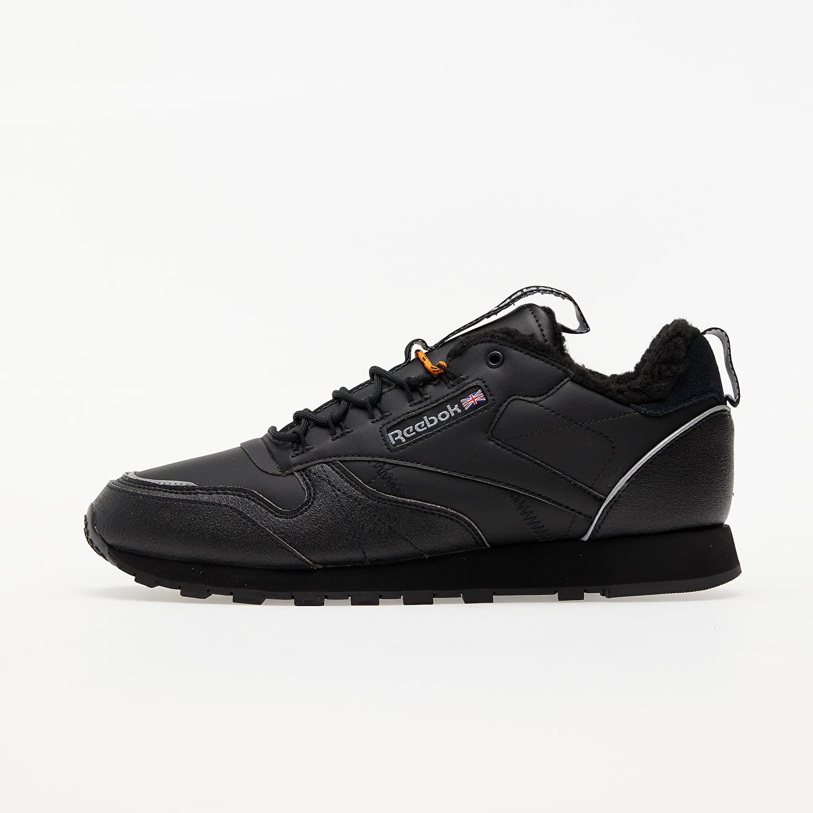 Reebok Classic Leather MU Black/ Black/ High Vivid Orange FZ1188