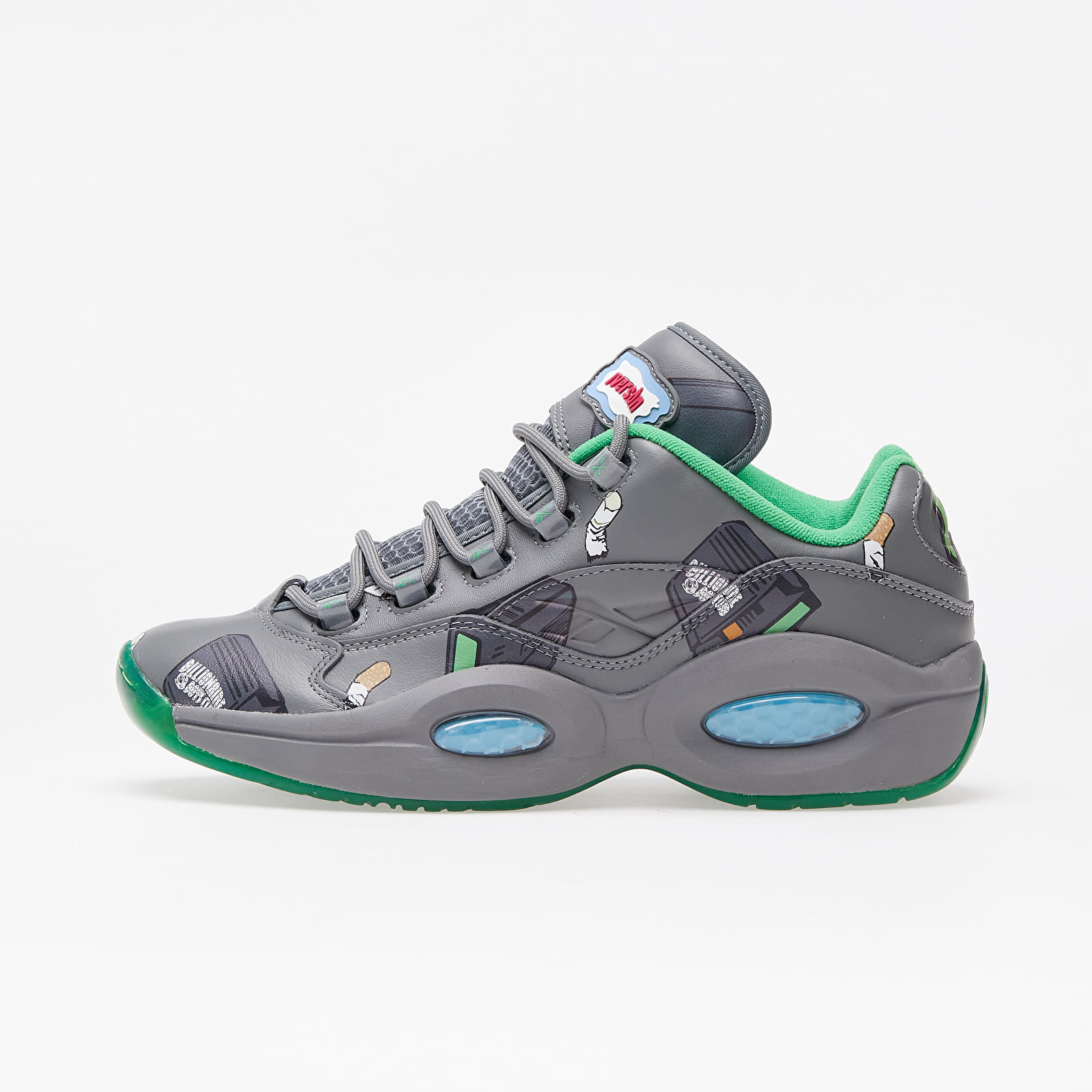 Reebok x BBC Ice Cream Question Low Trgry5/ Raw Green/ Bright Green Cyan FZ4342