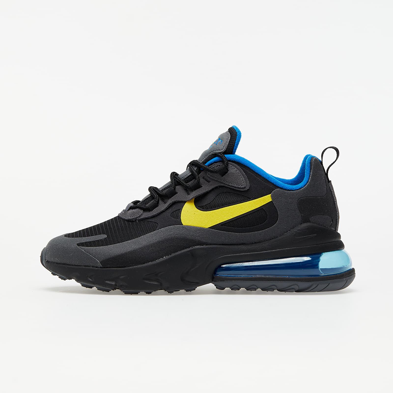 Nike Air Max 270 React Black/ Tour Yellow-Dark Grey-Blue Spark DA1511-001