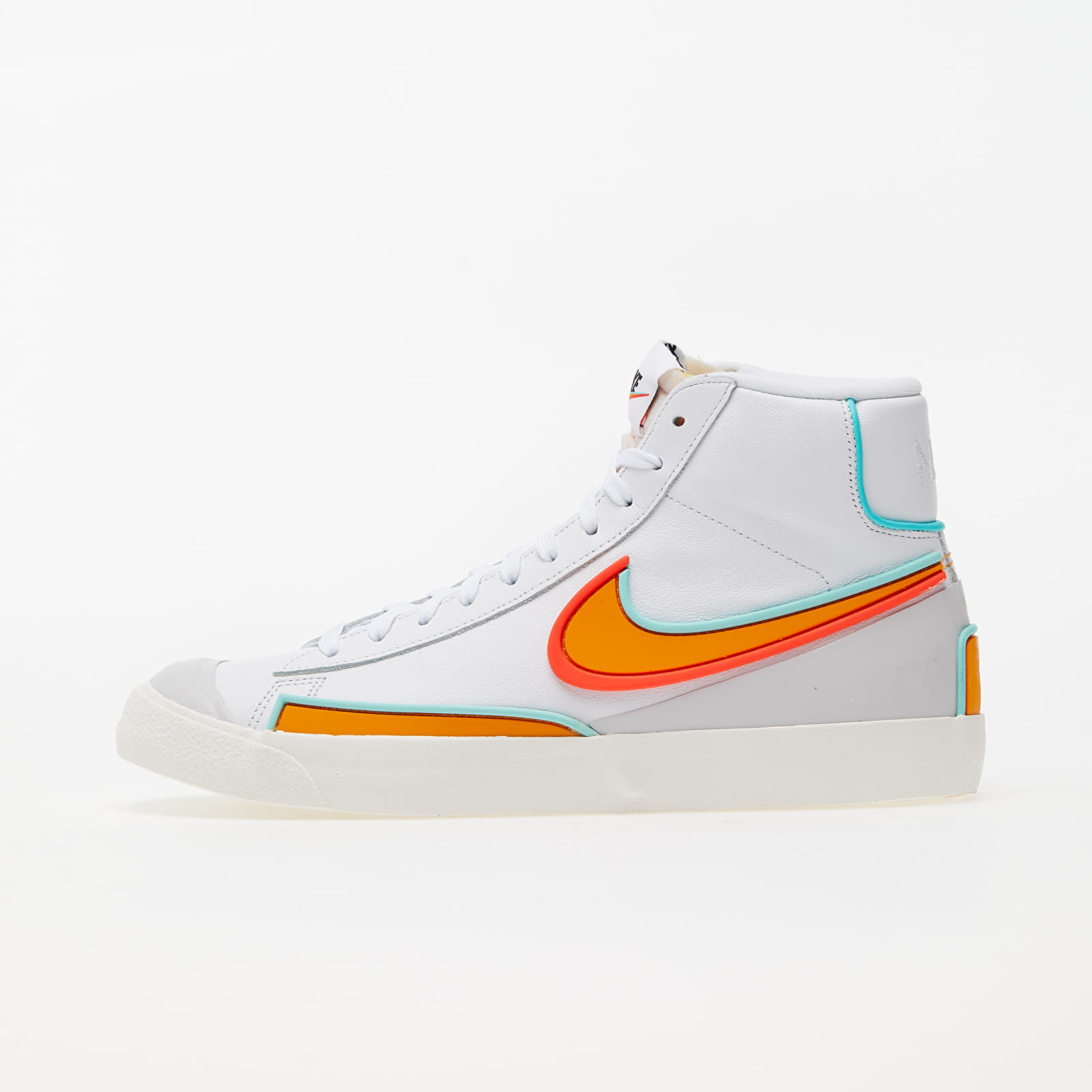 Nike Blazer Mid '77 Infinite White/ Kumquat-Aurora Green DA7233-100