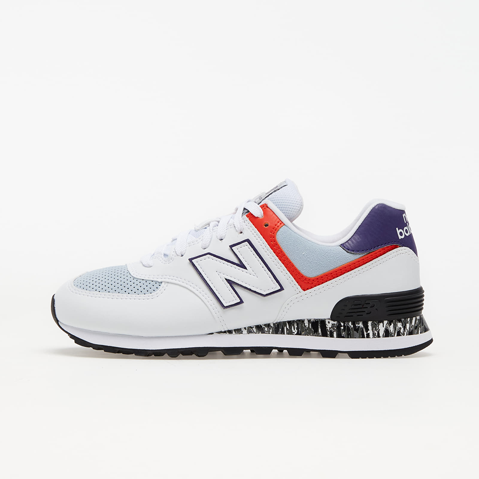 New Balance 574 White/ Orange/ Black WL574CS2