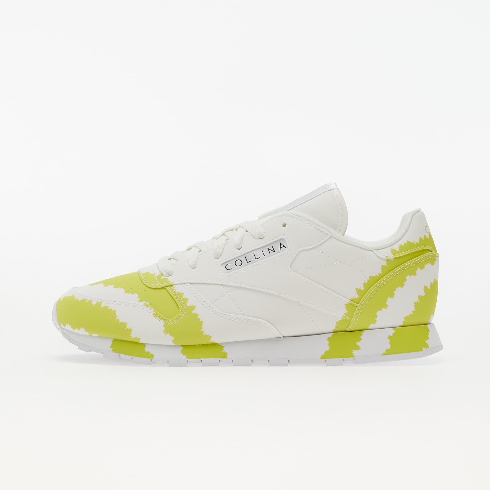 Reebok x Collina Strada Classic Leather Ftw White/ Digital Blue/ Active Yellow H03156
