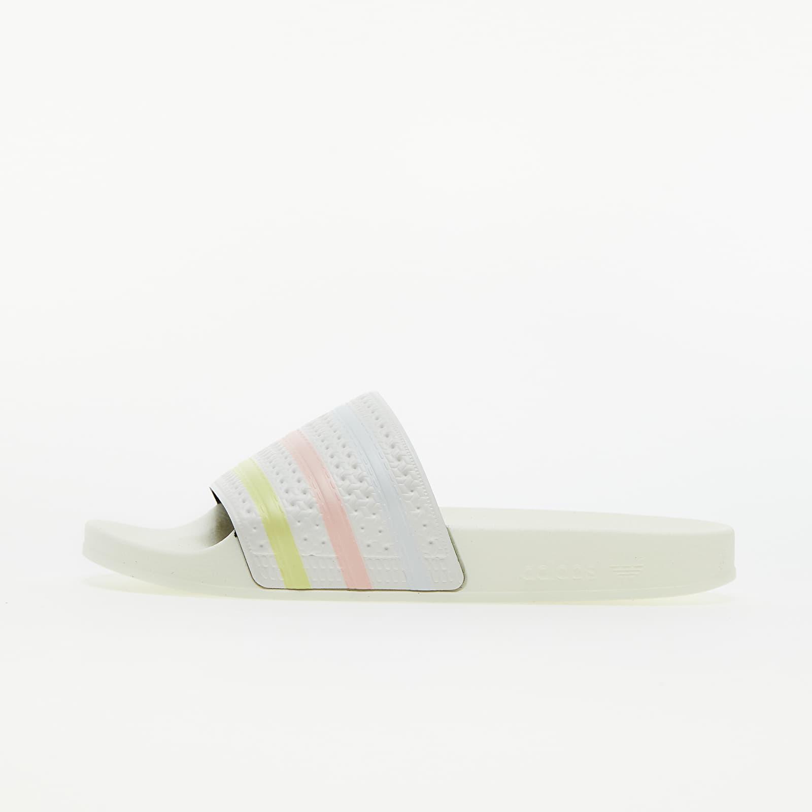 adidas Adilette W Off White/ Yellow Tint/ Pink Tint GZ7061