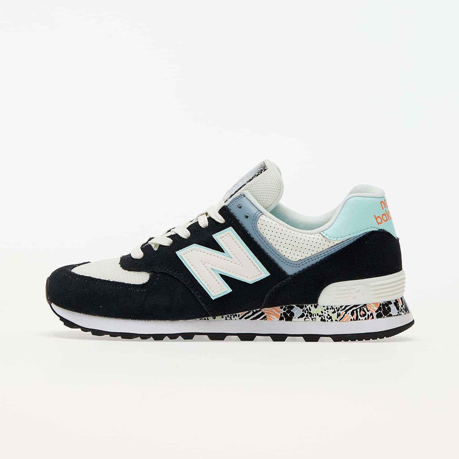 New Balance 574 Black/ Blue/ White WL574CA2