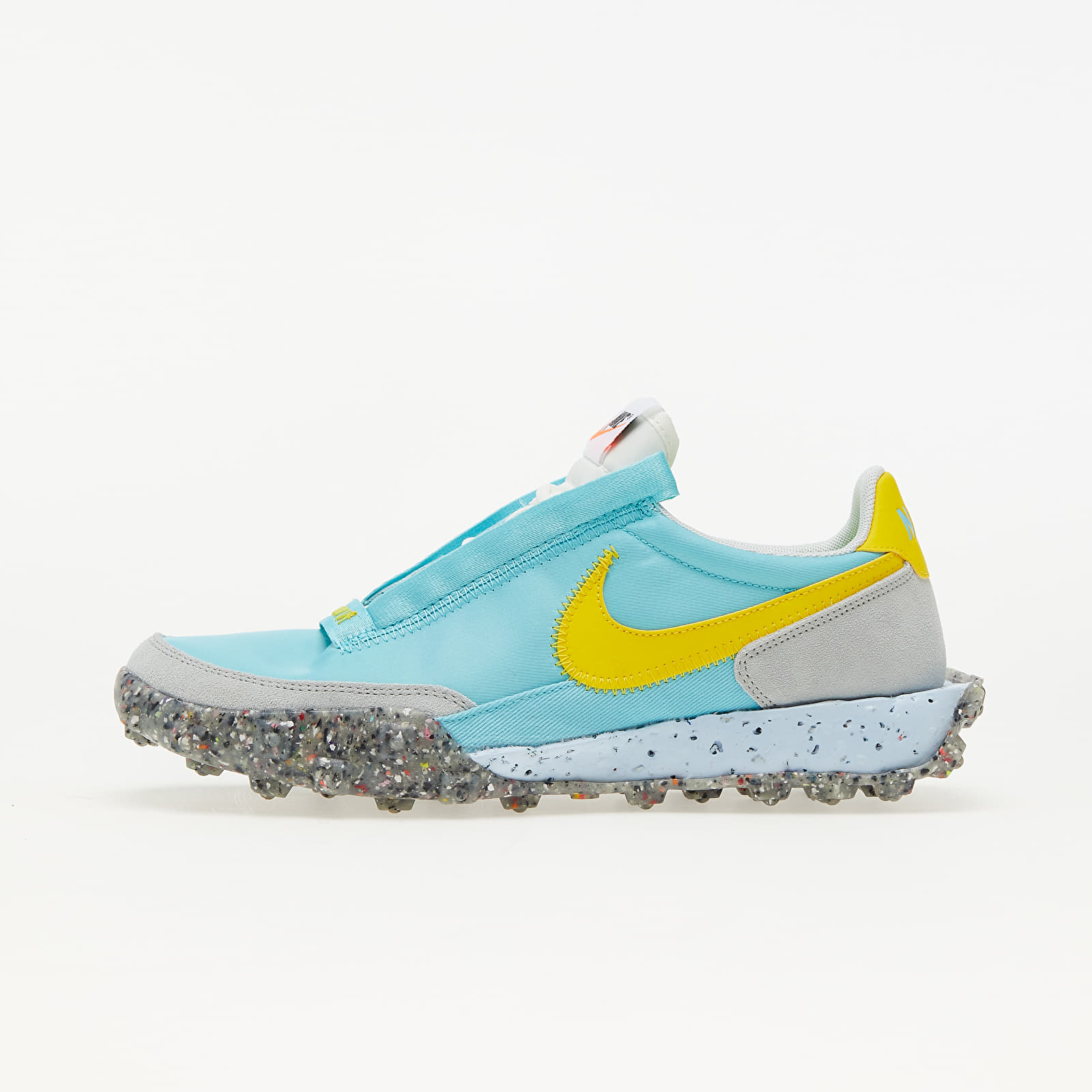 Nike W Waffle Racer Crater Bleached Aqua/ Speed Yellow-Sail CT1983-400