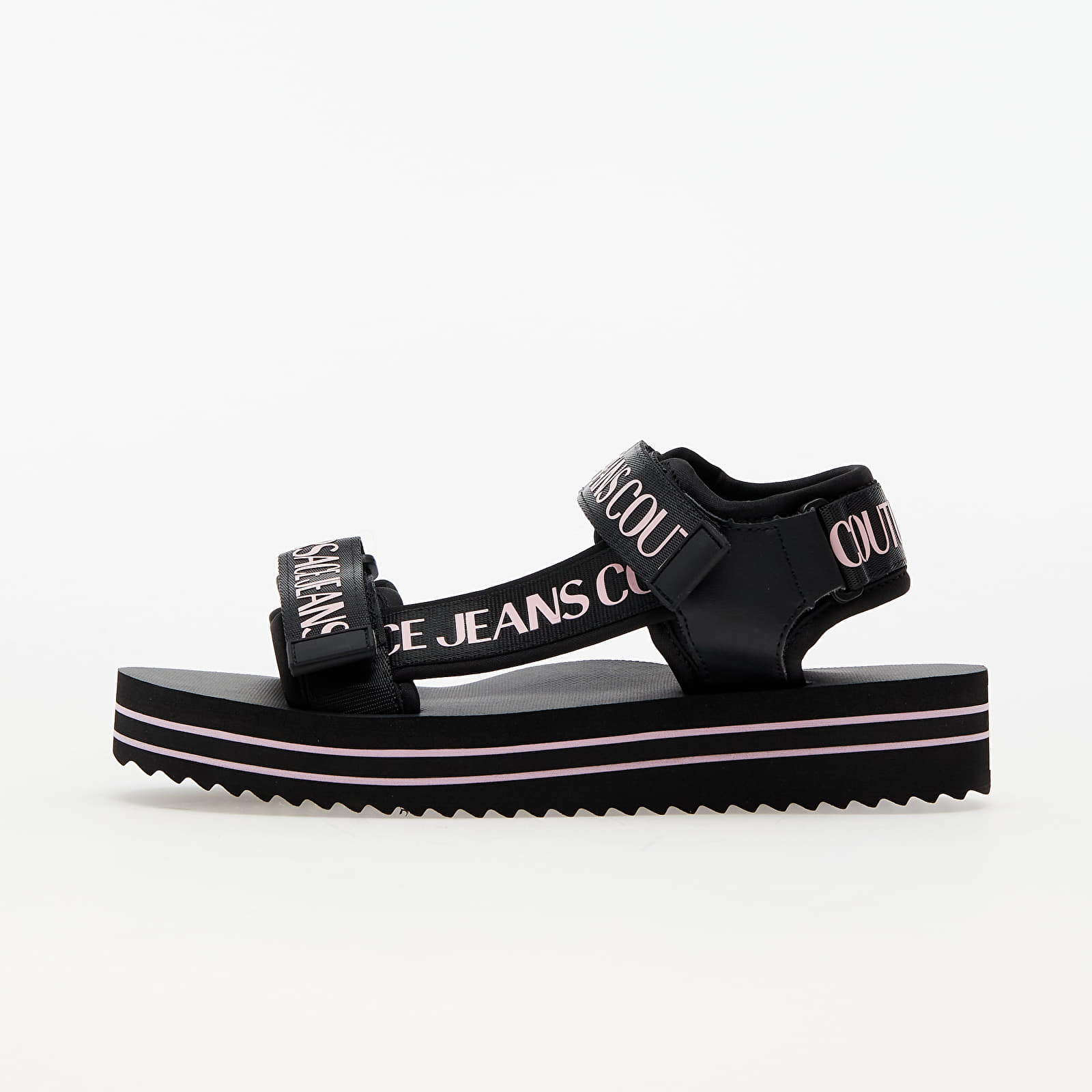 Versace Jeans Couture L. Fondo Strappy Sandal Black/ Pink 11 E0VWASX171937899