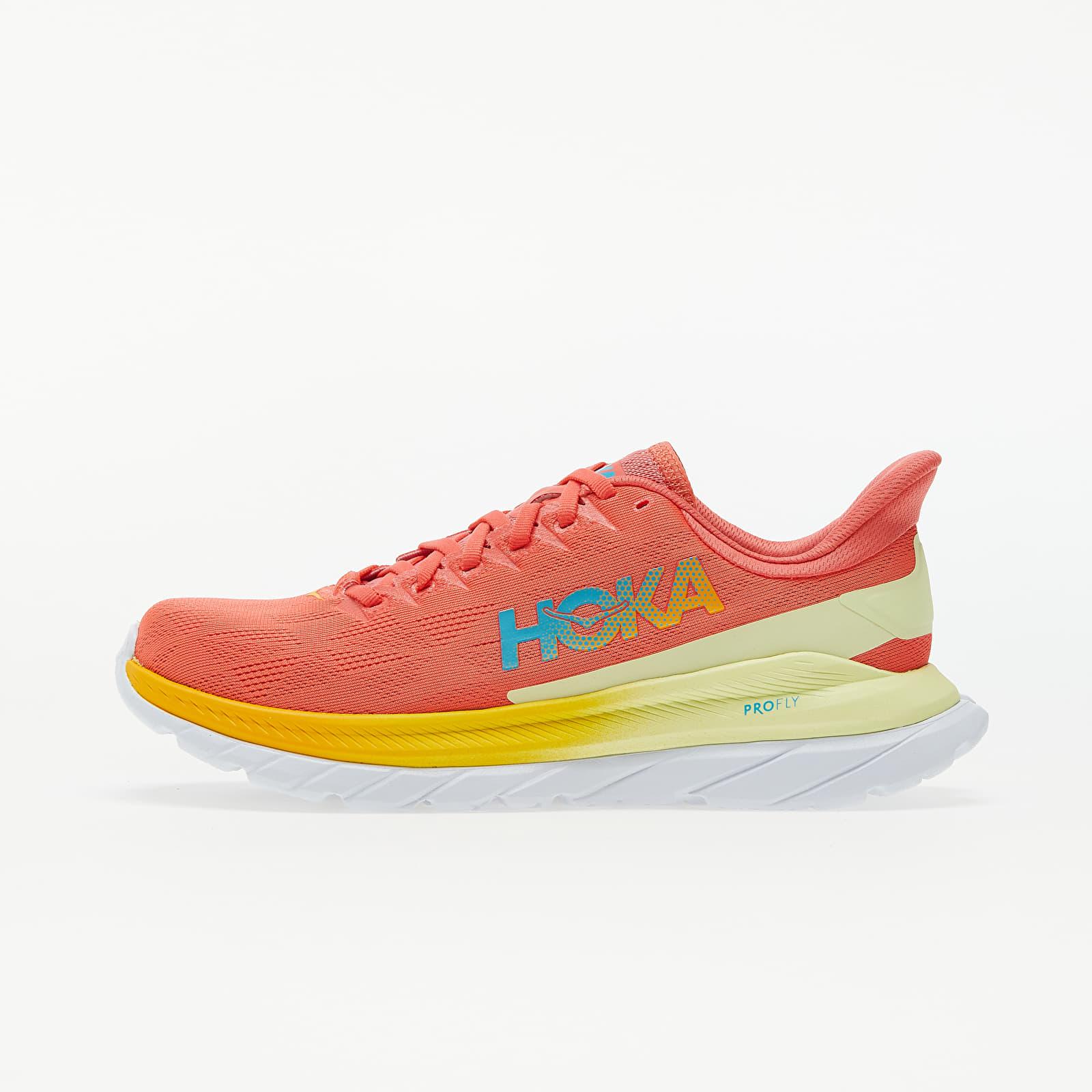 Hoka One One® W Mach 4 Hot Coral/ Saffron 5.5 1113529-HCSF