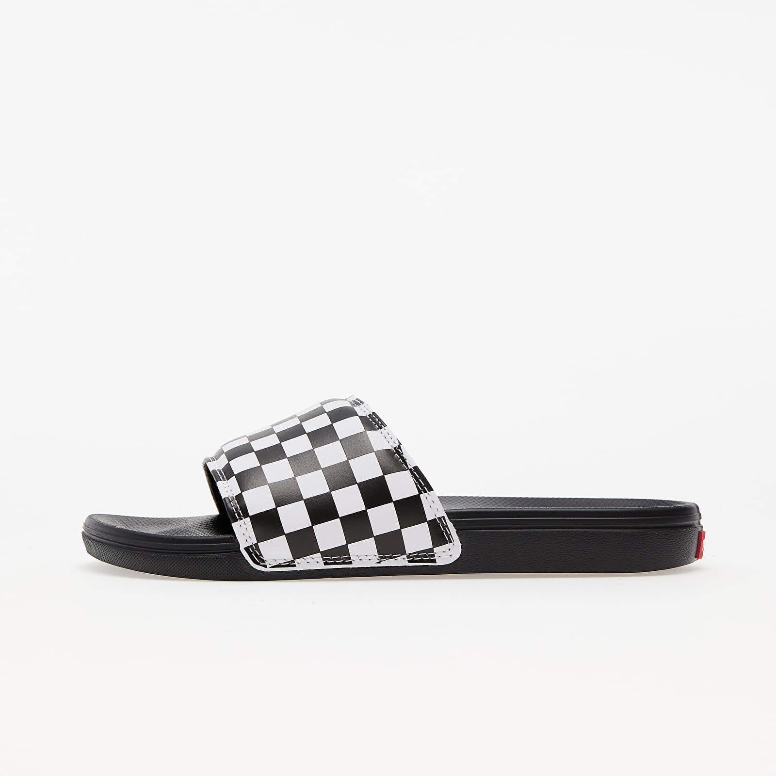 Vans La Costa Slide-On (Checkerboard) True White/ Black VN0A5HF527I1