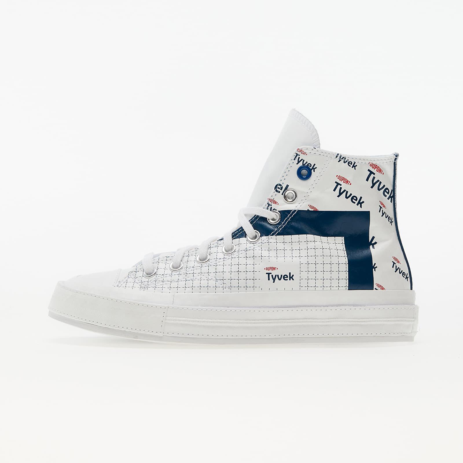 "Converse Chuck 70 ""Tyvek"" White/ Princess Blue/ Fiery Red 170061C"