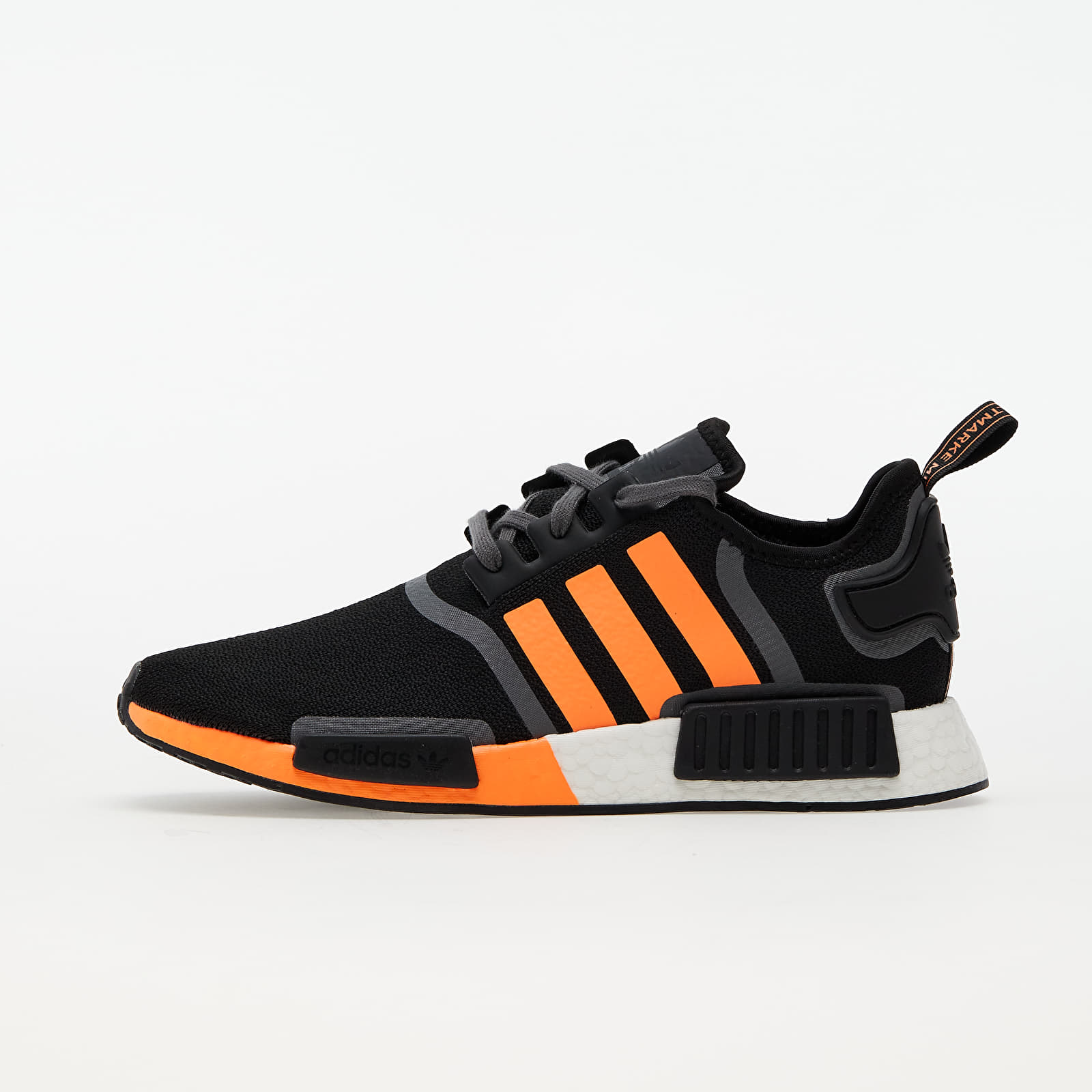 adidas NMD_R1 Core Black/ Screen Orange/ Grey Five G55575