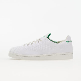 adidas x Pharrell Williams Superstar Primeknit Core White/ Core White/ Vivid Green GX0194