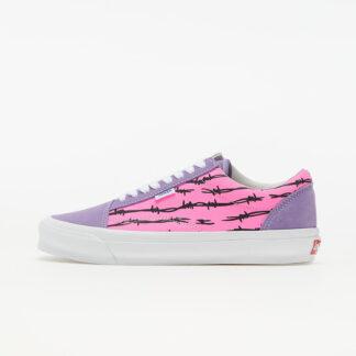 Vans Vault Old Skool NS OG LX (Suede/ Canvas) Barbed Wire/ Pink VN0A4UUT9XU1