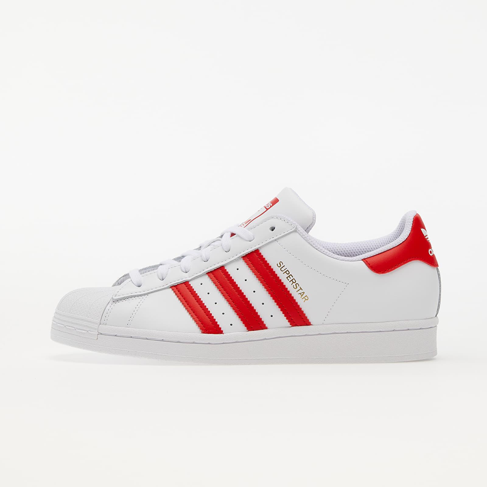 adidas Superstar Ftwr White/ Vivid Red/ Gold Met. H68094