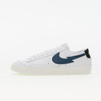 Nike Blazer Low '77 White/ Aquamarine-Lime Glow-Off Noir DJ6895-100